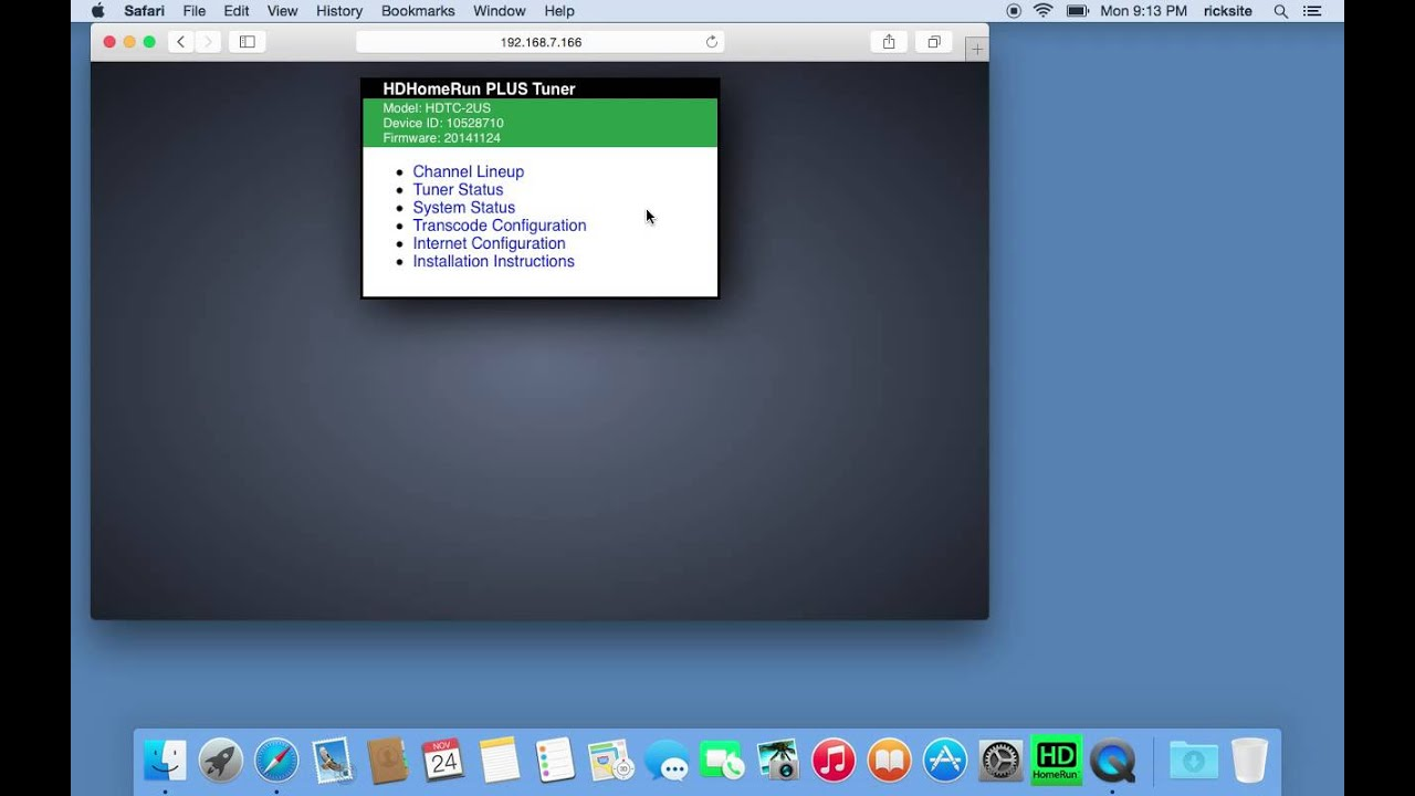 Overview of SiliconDust HDHomeRun View for Mac - YouTube