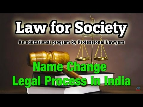 Legal Procedure For Changing Your Name In India | Sai Krishna Azad