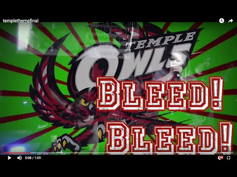Temple University Theme Song - Bleed Bleed For The Cherry and White - Polytheist
