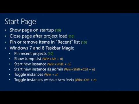 TechEd Europe 2013 Visual Studio Tips and Tricks
