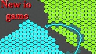 New funny io game || Splix.io + Slither.io || Superhex.io