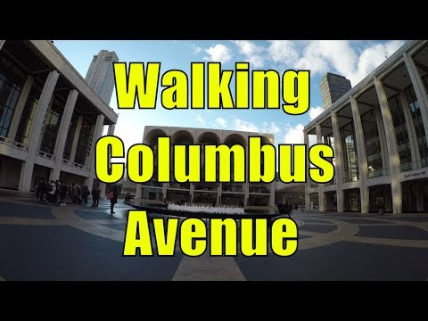 ⁴ᴷ Walking Tour of Upper West Side, Manhattan, NYC - Columbus Avenue & Lincoln Center