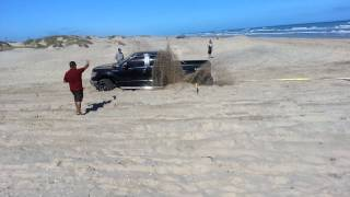 SPI truck stuck in the sand