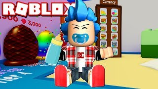 FIRST REBIRTH IN BABY SIMULATOR! - Roblox: Baby Simulator