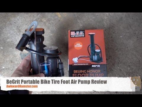 BeGrit Portable Bike Tire Foot Air Pump Review