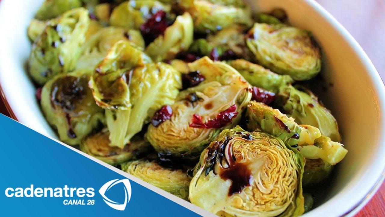 Receta para preparar coles de bruselas con aderezo de - Cocer coles de bruselas ...