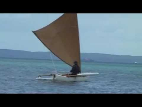 The Ulua, an outrigger sailing canoe