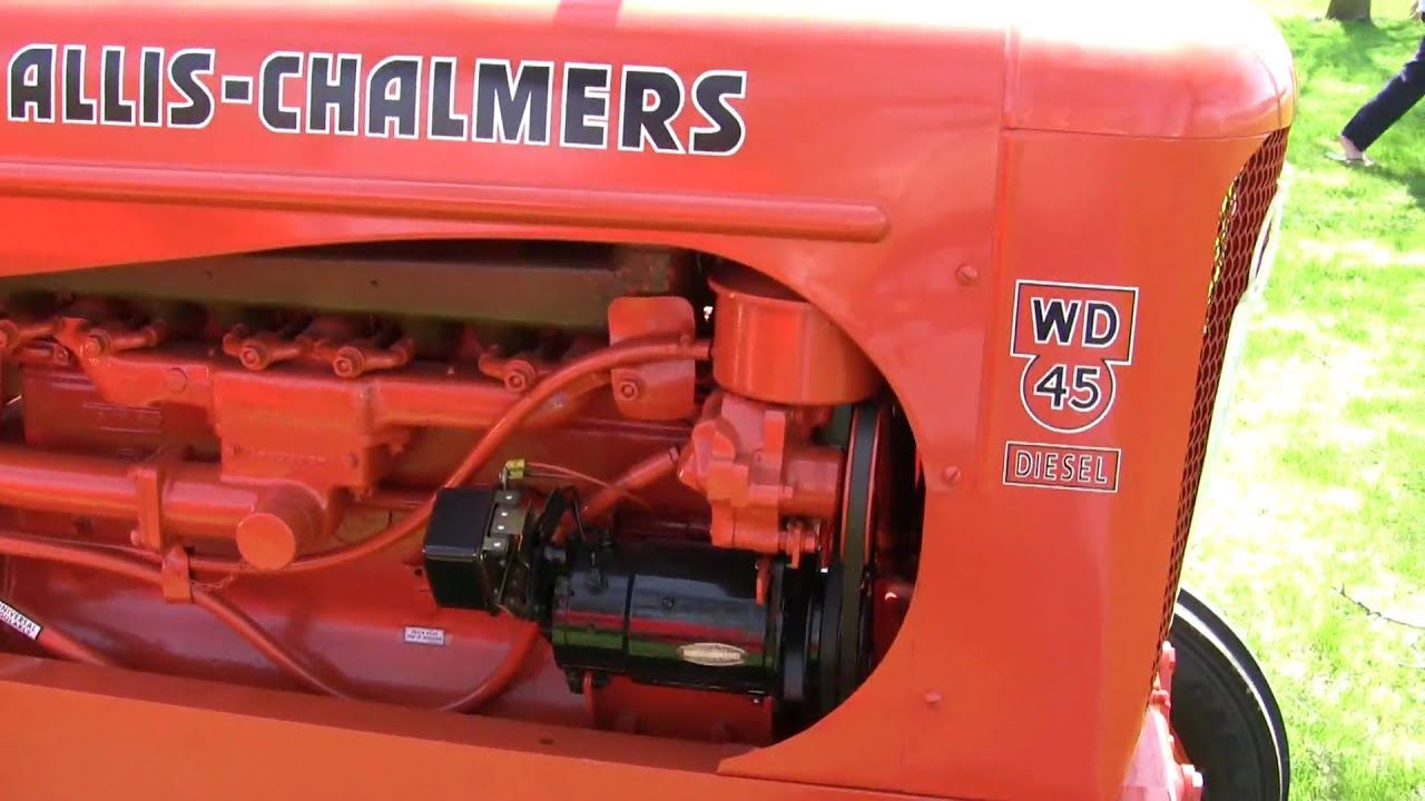 1956 Allis Chalmers Wd45 Wide Front Diesel Youtube
