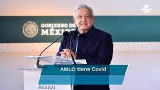 El presidente López Obrador informó que los síntomas que tiene son leves, pero ya se encuentra en tratamiento médico