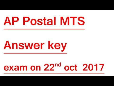 AP Postal MTS Answer key || AP Post Multitasking Exam Key with Question Paper Aftrenoon Shift