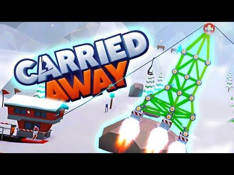 CRAZY SKI LIFT ROCKET SHIP!?! - Carried Away Ski Lift creation game like Polybridge