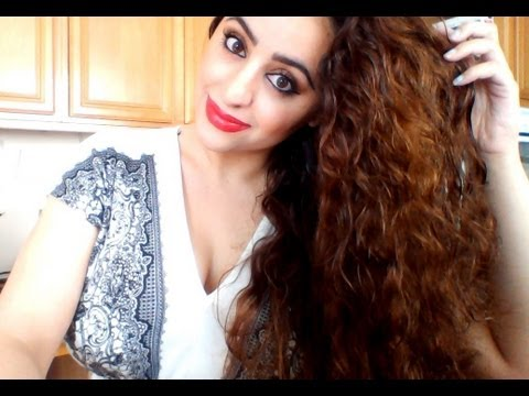 simple curly hair routine