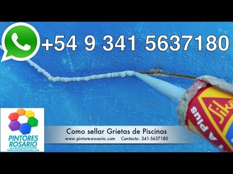 Como sellar grietas en piscinas parte 4 for Productos sika para piscinas