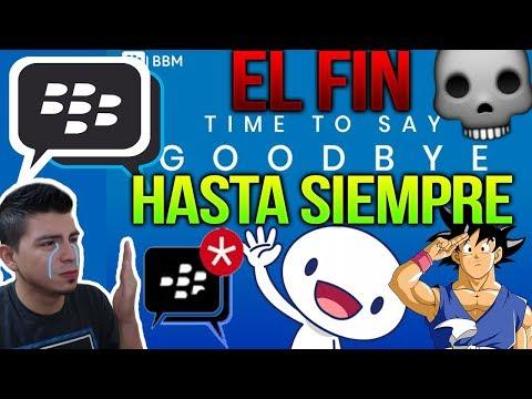 ¡ADIÓS Y HASTA SIEMPRE! BBM (Blackberry Messenger) El Comienzo Y El Final De La Mítica App/servicio