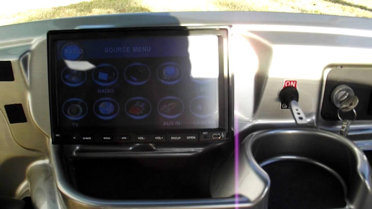 Ez Go Custom Golf Cart Dvd Cd Gaming System Rear Monitor
