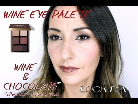 Tutorial Look De Dia Wine Eye Palette Bobbi Brown Youtube
