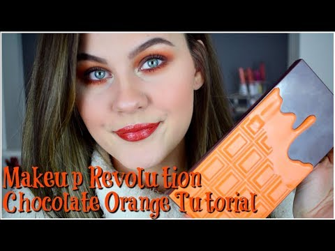 NEW Makeup Revolution Chocolate Orange Palette Tutorial