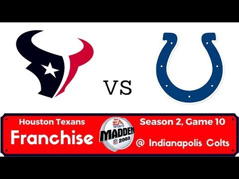 Madden 2003 Texans Franchise - Year 2 - Week 11 @ Indianapolis Colts