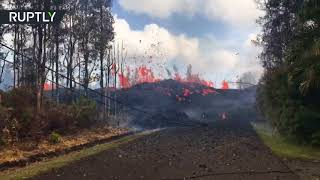 Volcano continues to spew lava on Hawaii's Big Island