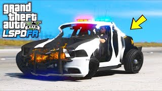 I played as a Cop with Extreme Damage mod!! (GTA 5 Mods Gameplay)