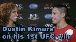 UFC 156 Dustin Kimura on 1st Octagon Victory, Celebrating In Vegas