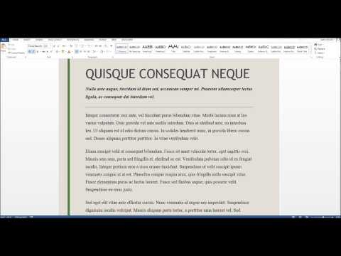 how to add horizontal line in word 2010