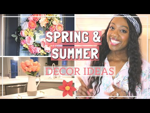 EASY SPRING AND SUMMER HOME DECOR HACKS |Spring Room Decor Tips | Decorate with me for Spring