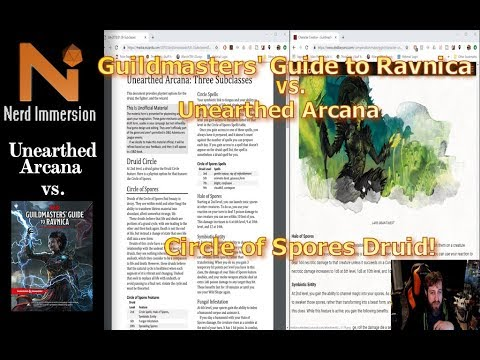 unearthed-arcana-vs-guildmasters'-guide-to-ravnica:-circle-of-spores-druid- -nerd-immersion