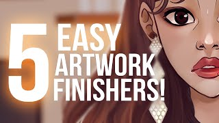 5 EASY Digital Art Finishers ⭐️ Lights, Filter, Blur and More + MSI PS321QR review