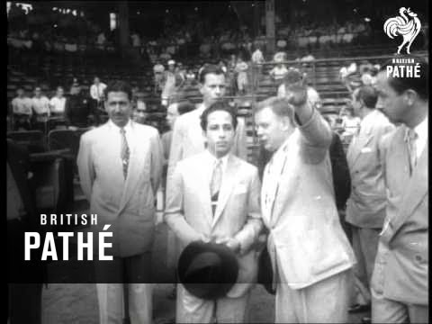 New York Aka People In The News - King Feisal At Baseball Match (1952)