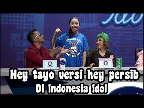 Ngakak !! Bobotoh Nyanyi Lagu Hey Tayo Versi Hey Persib Di Indonesia Idol