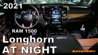 AT NIGHT: 2021 RAM 1500 Longhorn - Interior & Exterior Lighting Overview