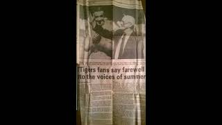 Baltimore Orioles at Detroit Tigers Sept 29 1991 Ernie Harwell Paul Carey Full Game Broadcast