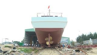 Quảng Nam đưa tàu dịch vụ hậu cần nghề cá vỏ thép đầu tiên vào hoạt động