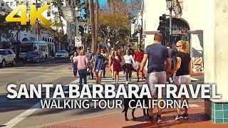 SANTA BARBARA TRAVEL - USA, WALKING TOUR (1 HR 23 MIN), CALIFORNIA, 4K(60FPS) - Full Version