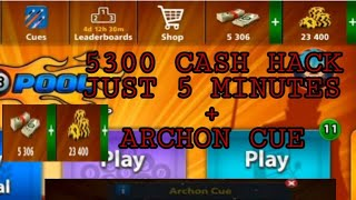 100% REAL HACK 5000 CASH IN 8 BALL POOL LATEST HACK WITH ARCHON CUE.