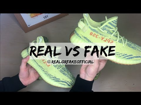 ADIDAS YEEZY 350 BOOST V2 FROZEN YELLOW (YEBRA) COMPARISON REAL VS FAKE