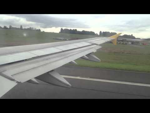 Monarch G-OZBI Airbus a321 takeoff Birmingham Airport BHX | EGBB ZB932 to Tenerife