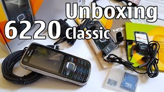 Nokia 6220 Classic Unboxing 4K with all original accessories Nseries RM-328 review