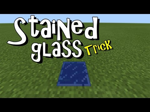 STAINED GLASS TRICK !!! Minecraft PE (Pocket Edition) MCPE 1.1