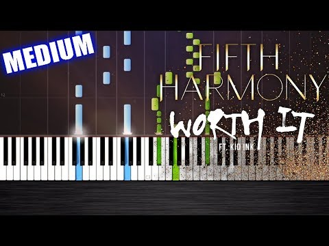 Fifth Harmony - Worth It ft. Kid Ink - Piano Cover/Tutorial by PlutaX - Synthesia