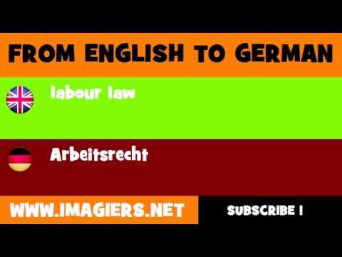 Deutsch Englisch Arbeitsrecht Youtube