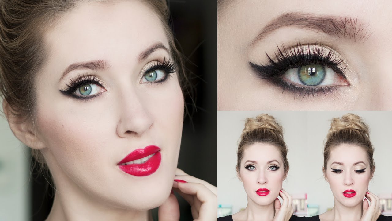 Tuto maquillage de soir e chic et simple eyeliner l 39 il - Maquillage facile a faire soi meme ...