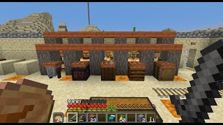 Minecraft villager trading hall