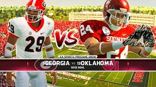 Rose Bowl!! Georgia vs Oklahoma! - NCAA Football 14