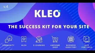 KLEO v4+ Theme Install and Setup ( Main & Community demo )