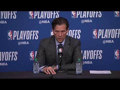 Quin Snyder Postgame Interview | Thunder vs Jazz - Game 3 | April 21, 2018 | 2018 NBA Playoffs