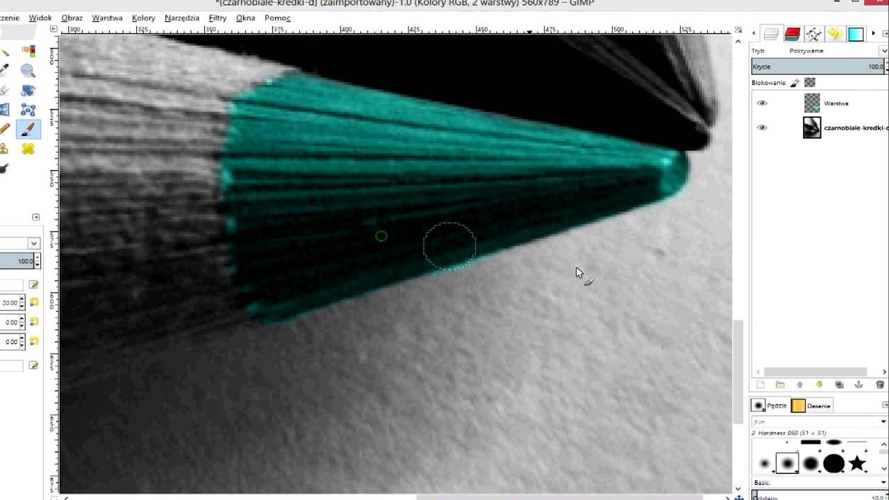 Gimp 28 Jak Kolorować Czarno Białe Zdjęcia Youtube