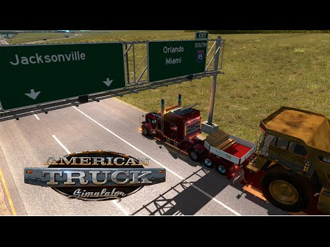 American Truck Simulator.  Driving to Jacksonville. Heavy Haul.