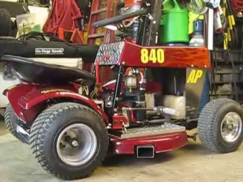 Racing Mower Briggs 8hp Engine Just after tune up and new carb USLMRA AP  Class